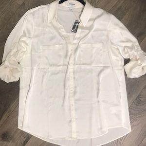 Express button down blouse size XL NWT